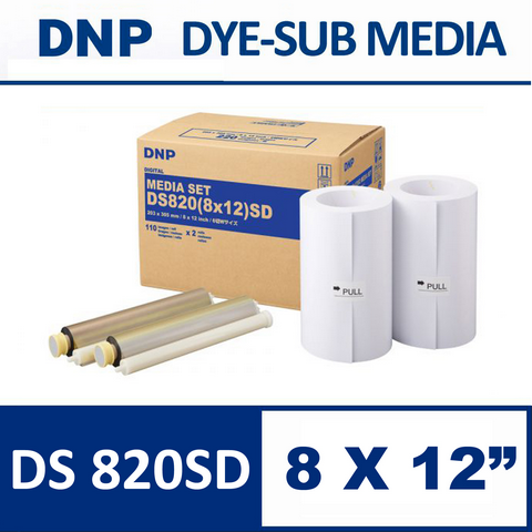 DS 820SD 8X12 inch Media Set from DNP