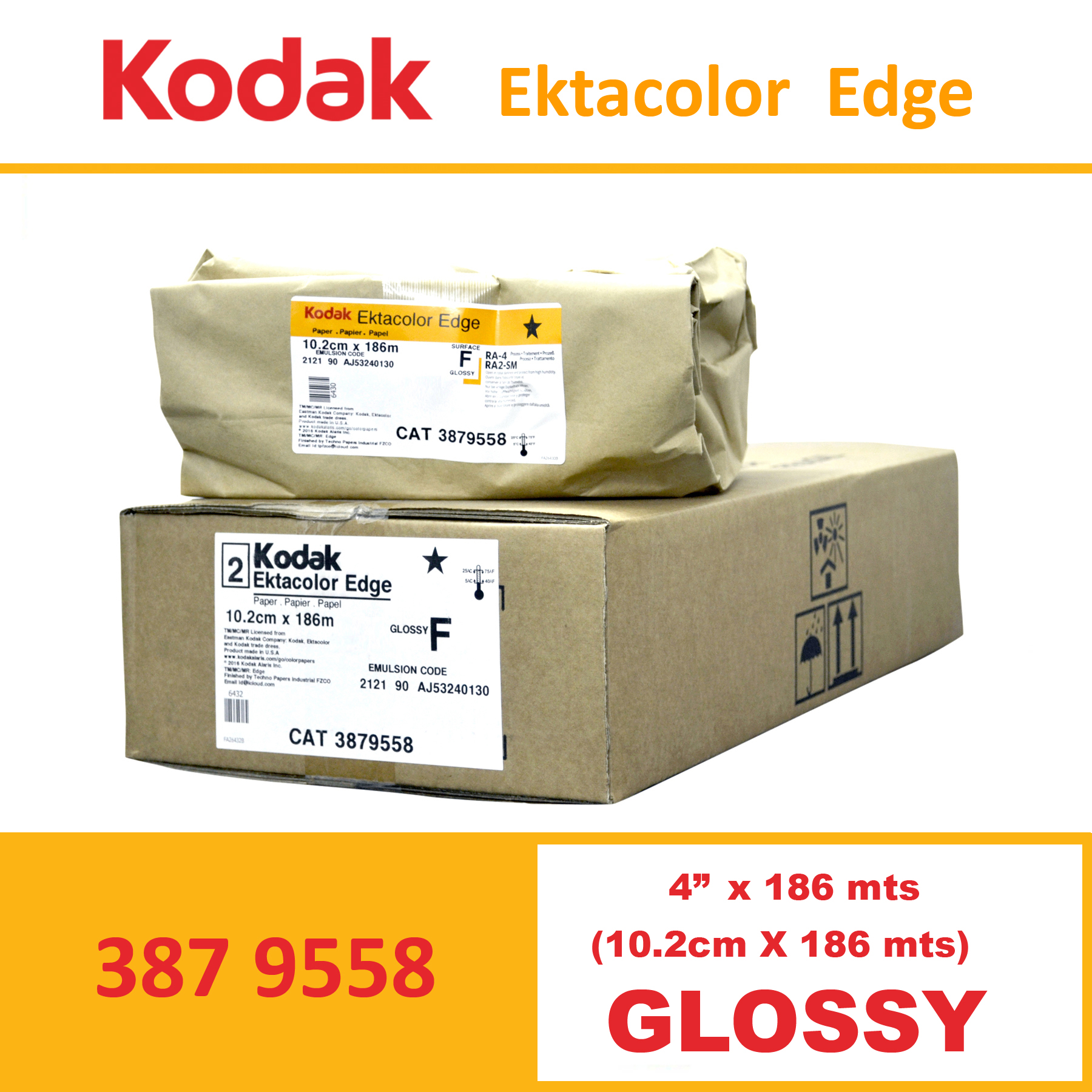 "Kodak 4"" Ekta Color Edge Paper Glossy"