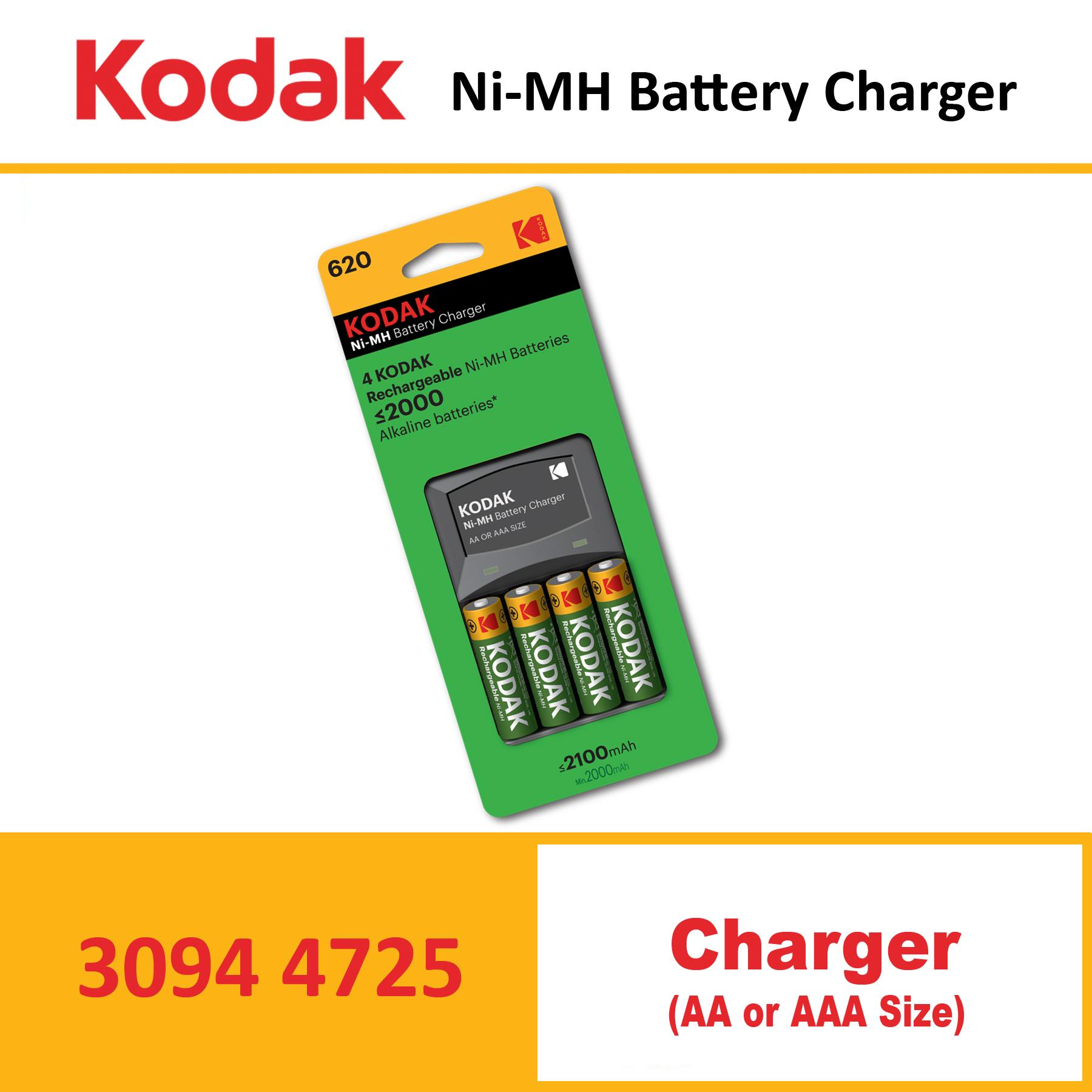 KODAK Charger K620E-C+4AA 2100mah