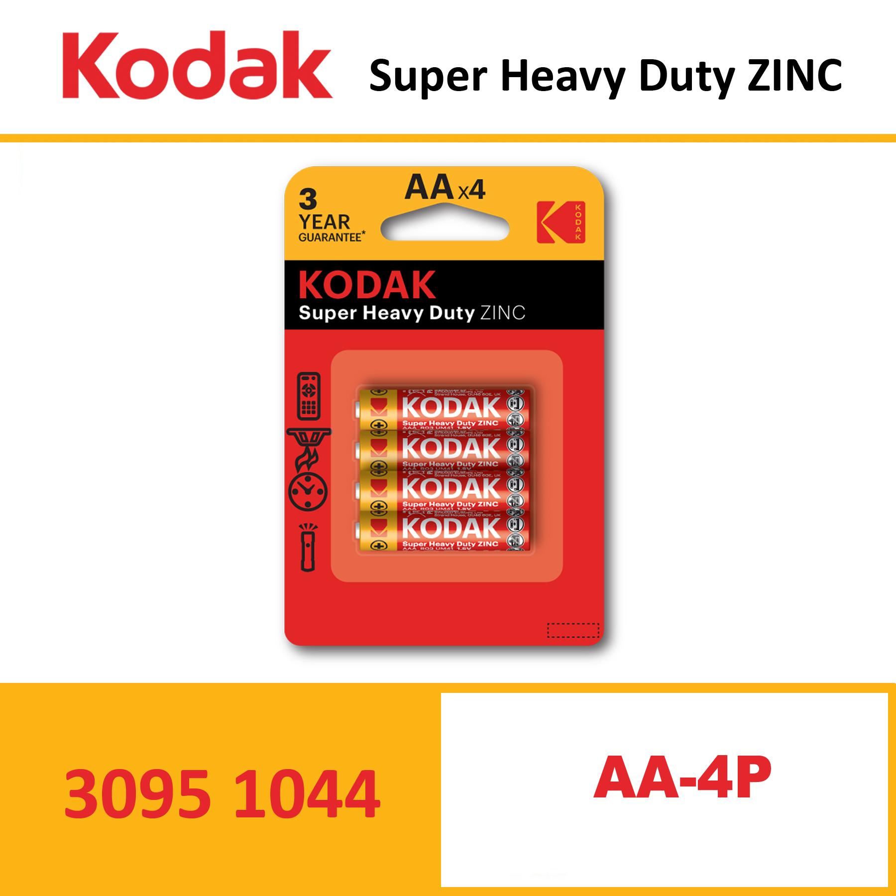 KODAK Super Heavy Duty Zinc Battery KAAHZ CARD