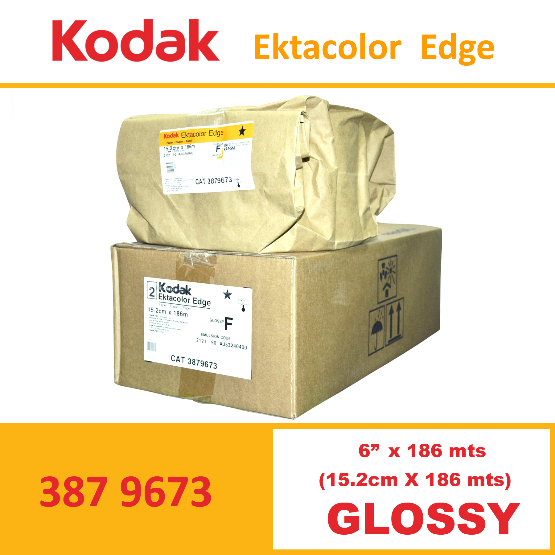 "Kodak 6"" Ekta Color Edge Paper Glossy"