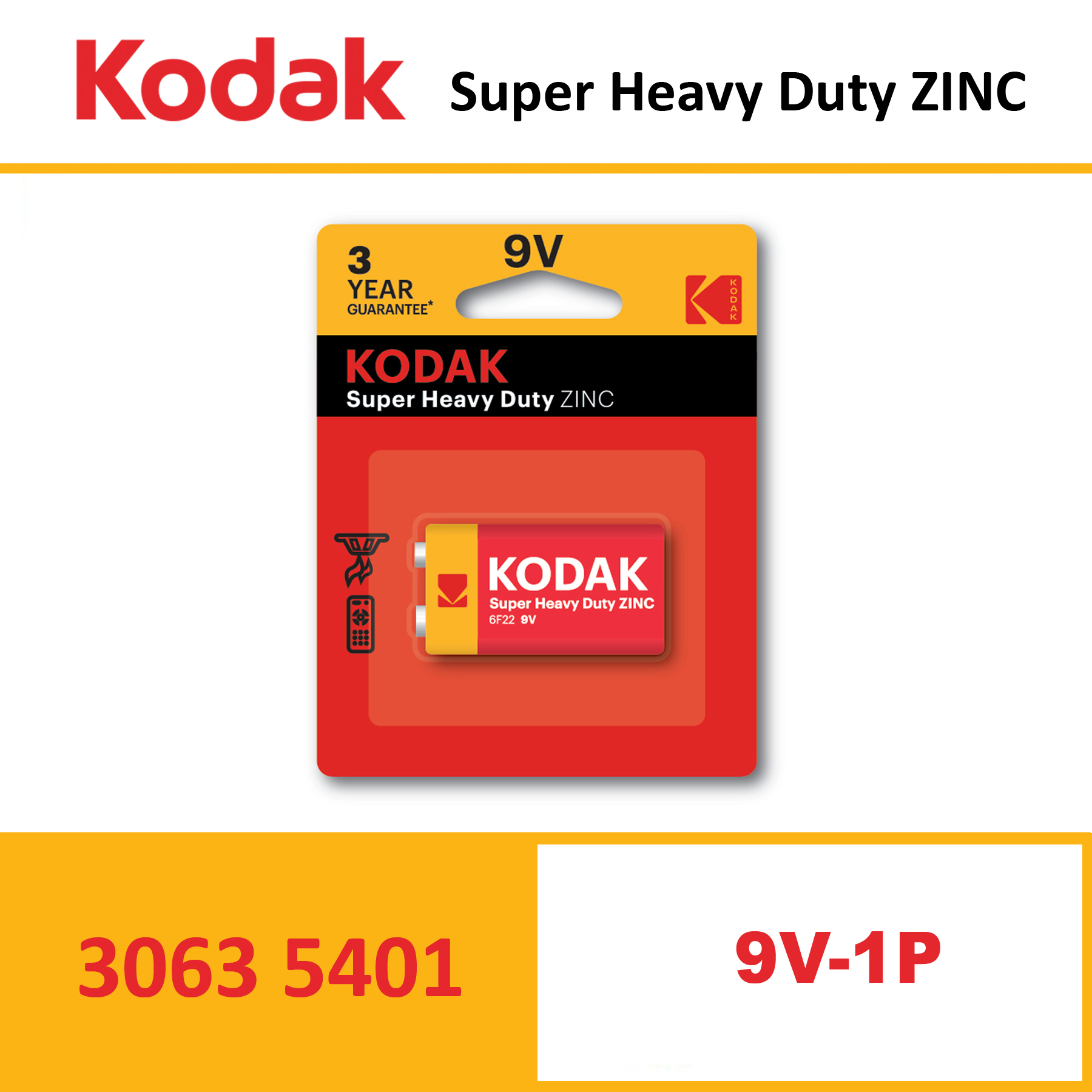 KODAK Super Heavy Duty Zinc Battery K9VHZ