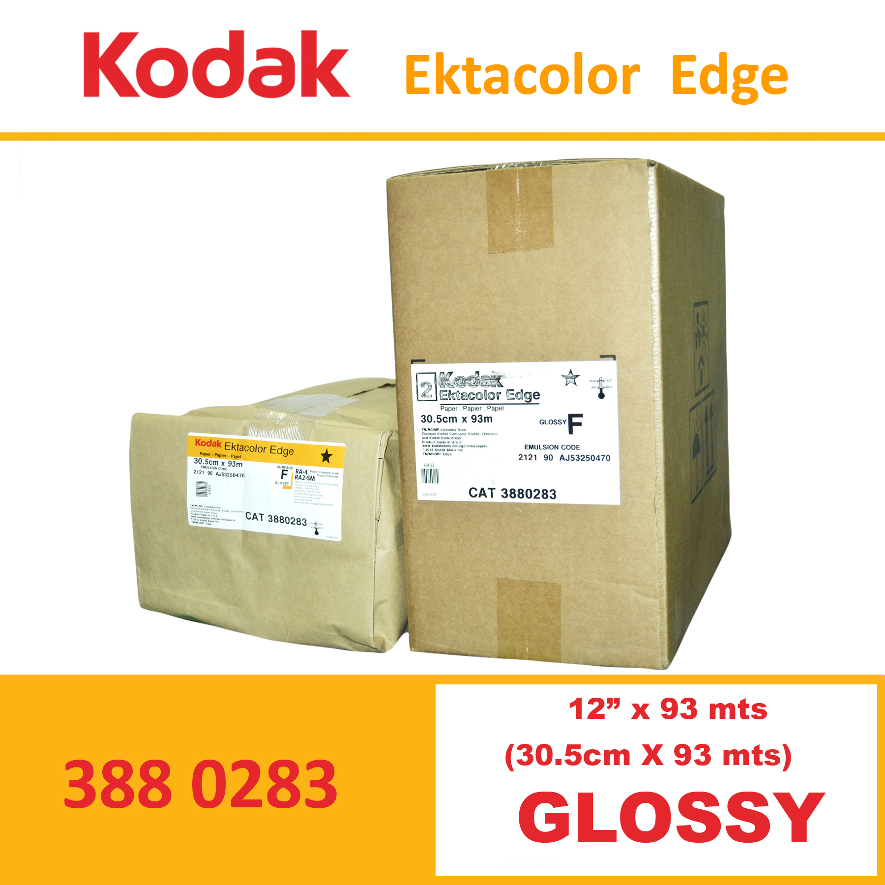 "Kodak 12"" Ekta Color Edge Paper Glossy"