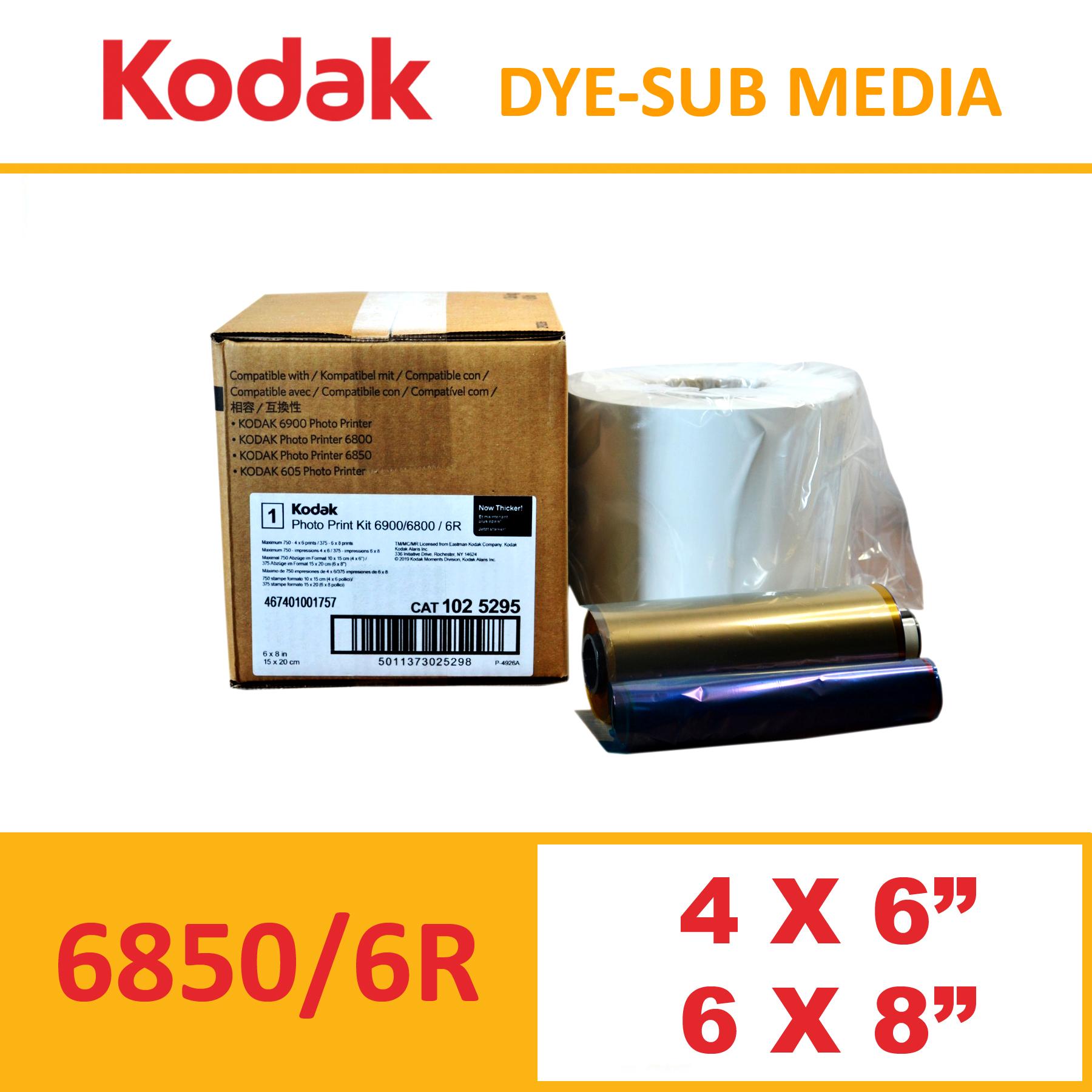 Kodak 6850/6900 Dye-Sub Photo Printer Media Kit
