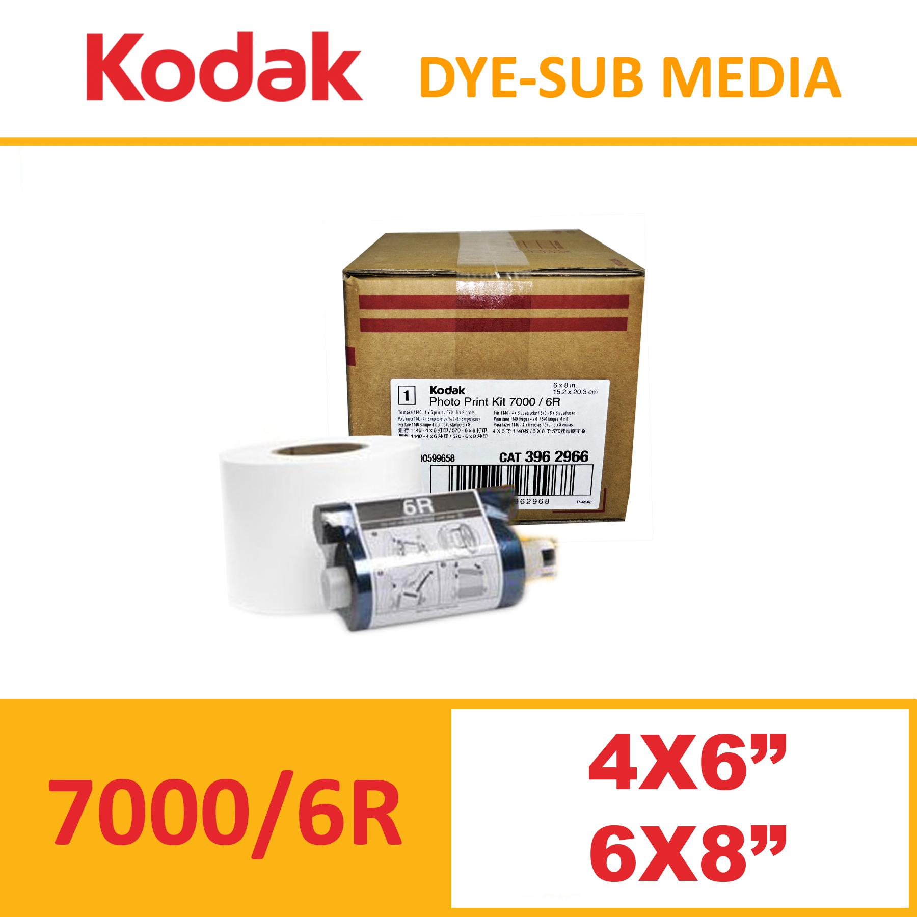 Kodak 7000 Dye-Sub Photo Printer Media Kit