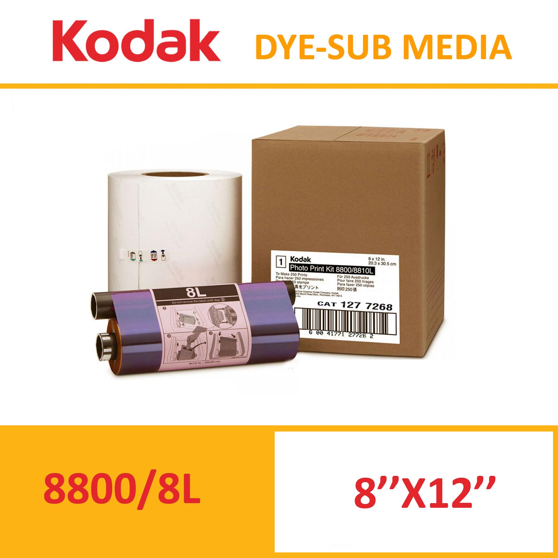 Kodak 8800/8810 Dye-Sub Photo Printer Media Kit