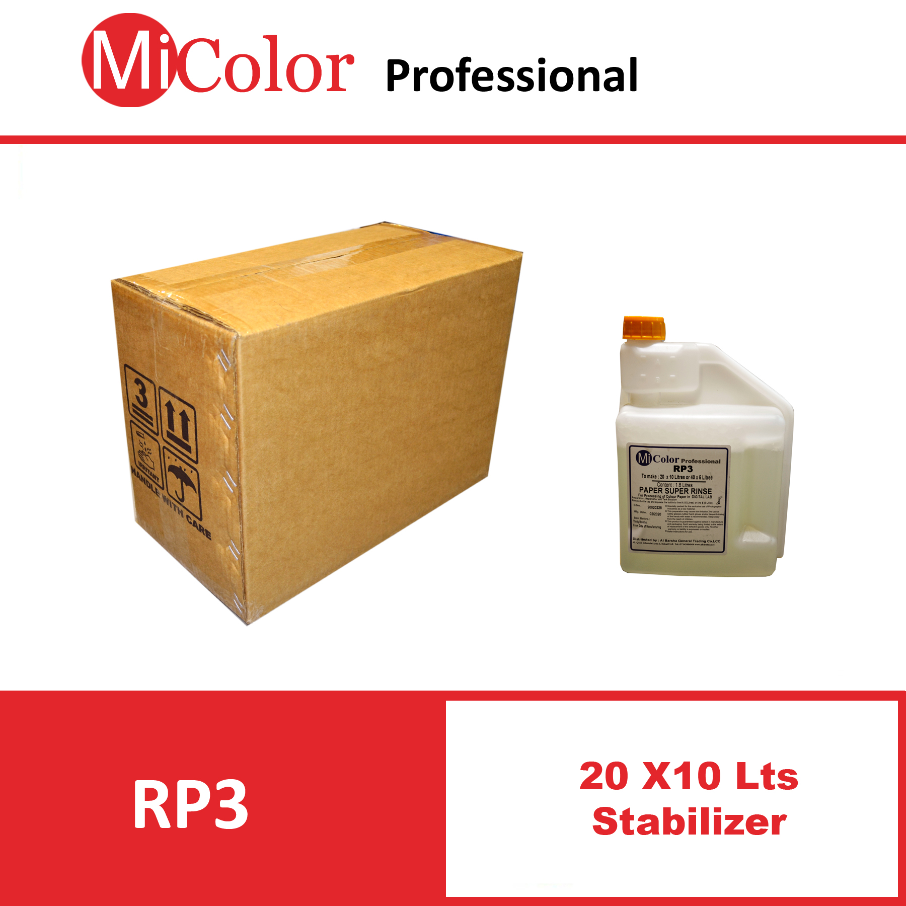 Mi Color RA-4  Stabilizer ( 20 x10 Liters )