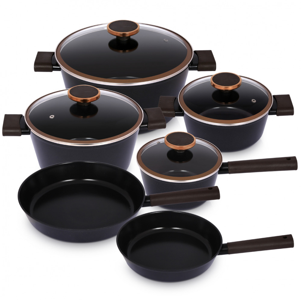 Neoflam Noblesse Cookware Set – 10 Piece – Black