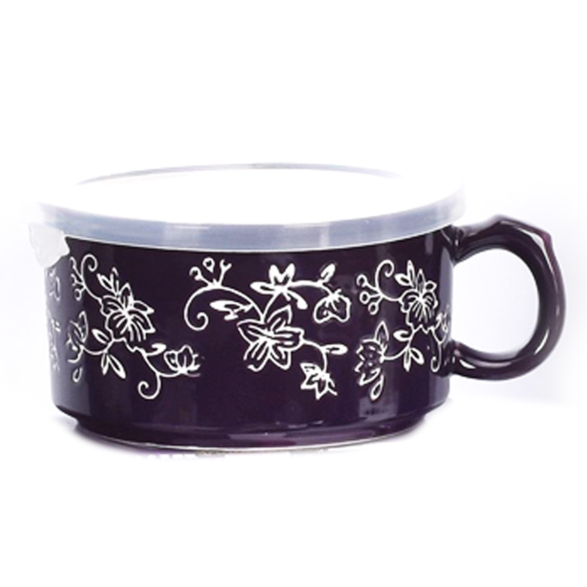 temp-tations® Floral Lace Meal Mug with Gift Box – Eggplant