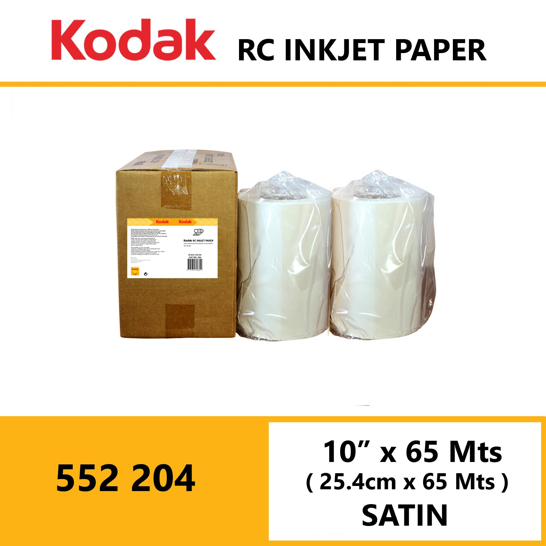 "Kodak Inkjet RC Paper 10 "" x 65 Mtrs Satin"