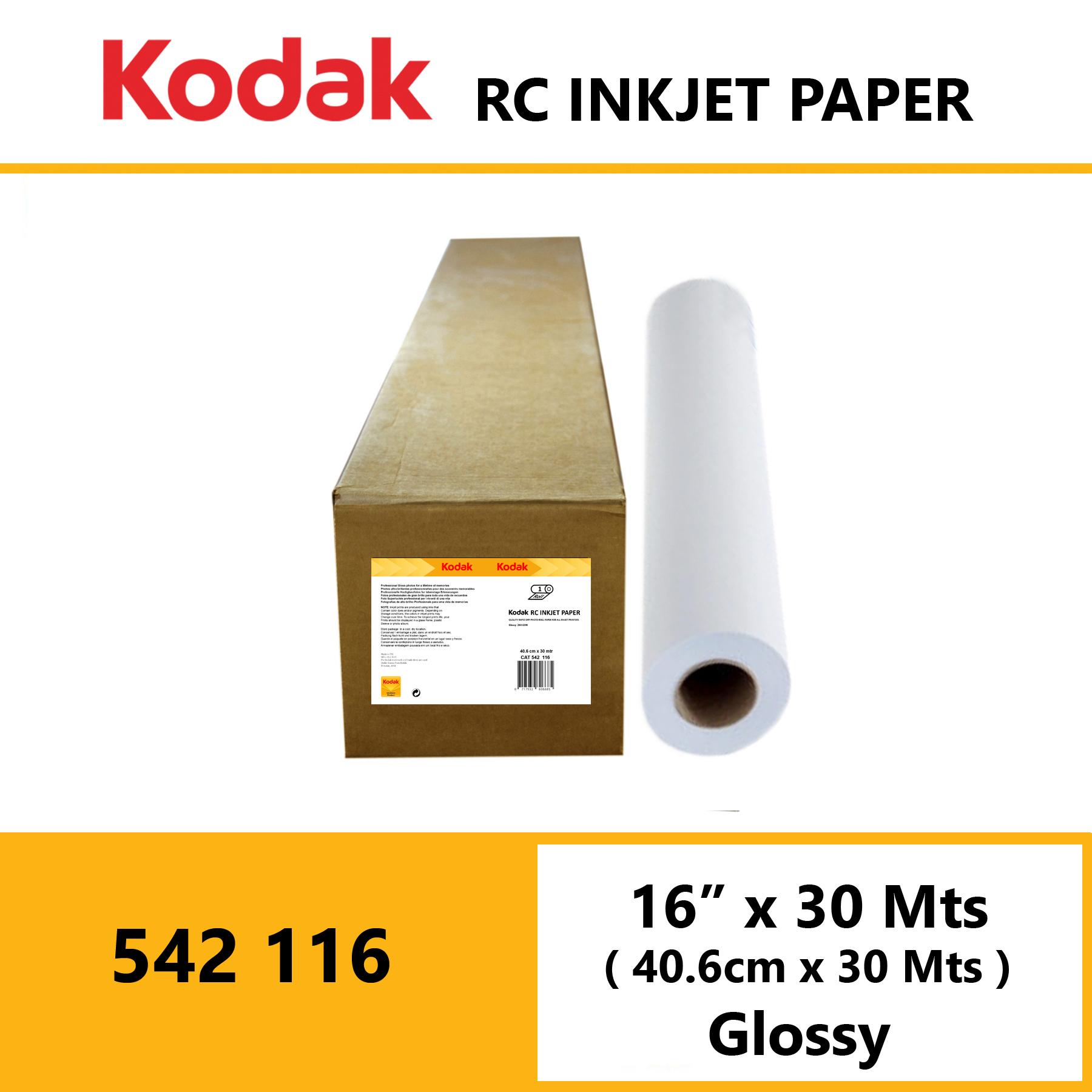 "Kodak Inkjet RC Paper 16"" x 30 Mtrs Glossy"