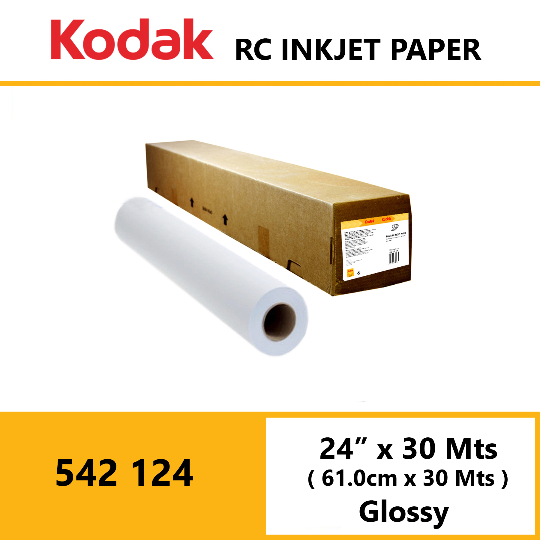 "Kodak Inkjet RC Paper 24"" x 30 Mtrs Glossy"