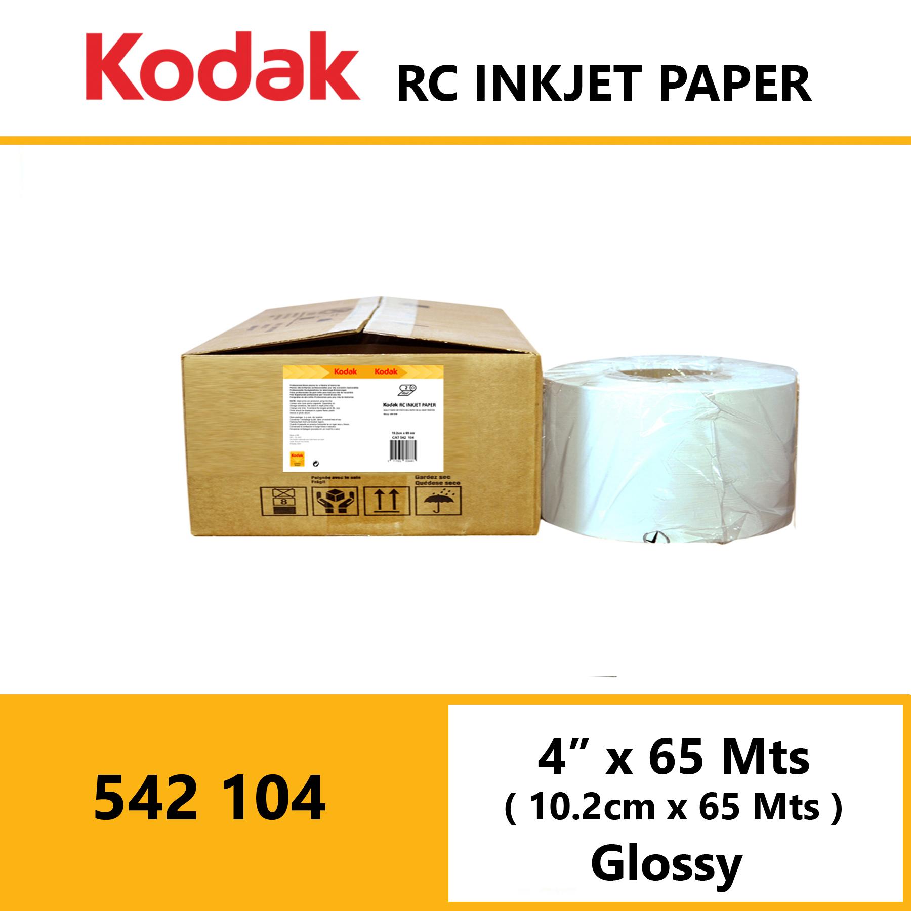 "Kodak Inkjet RC Paper 4 "" x 65 Mtrs Glossy"