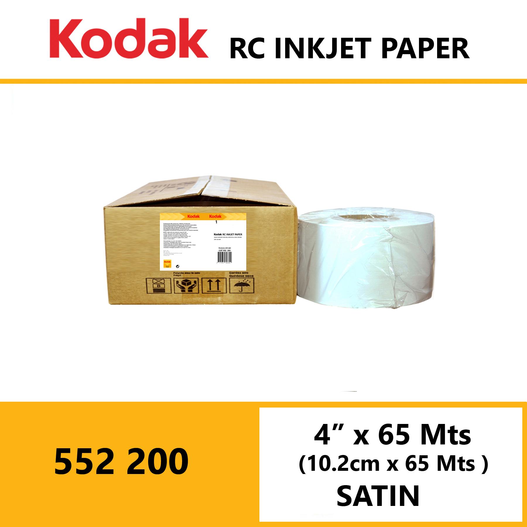 "Kodak Inkjet RC Paper 4 "" x 65 Mtrs Satin"