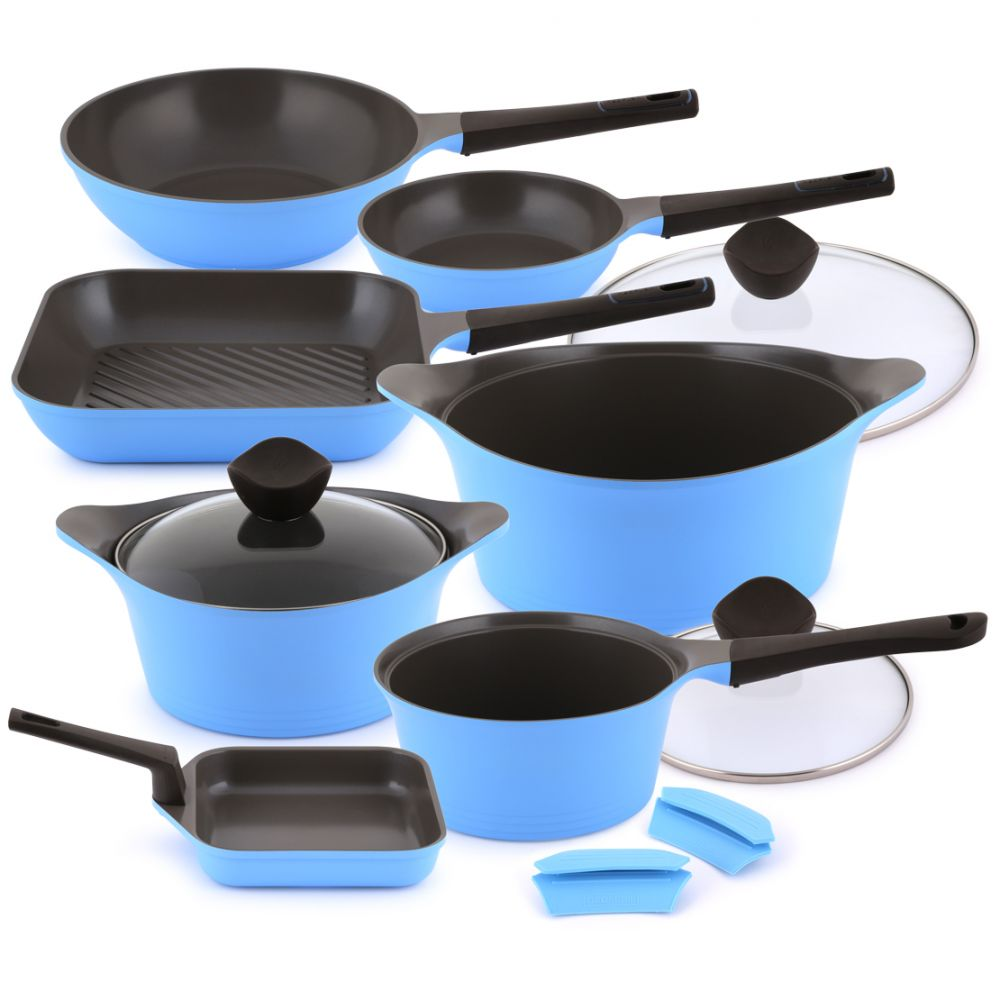Neoflam Aeni Cookware Set – 10 Piece – Blue