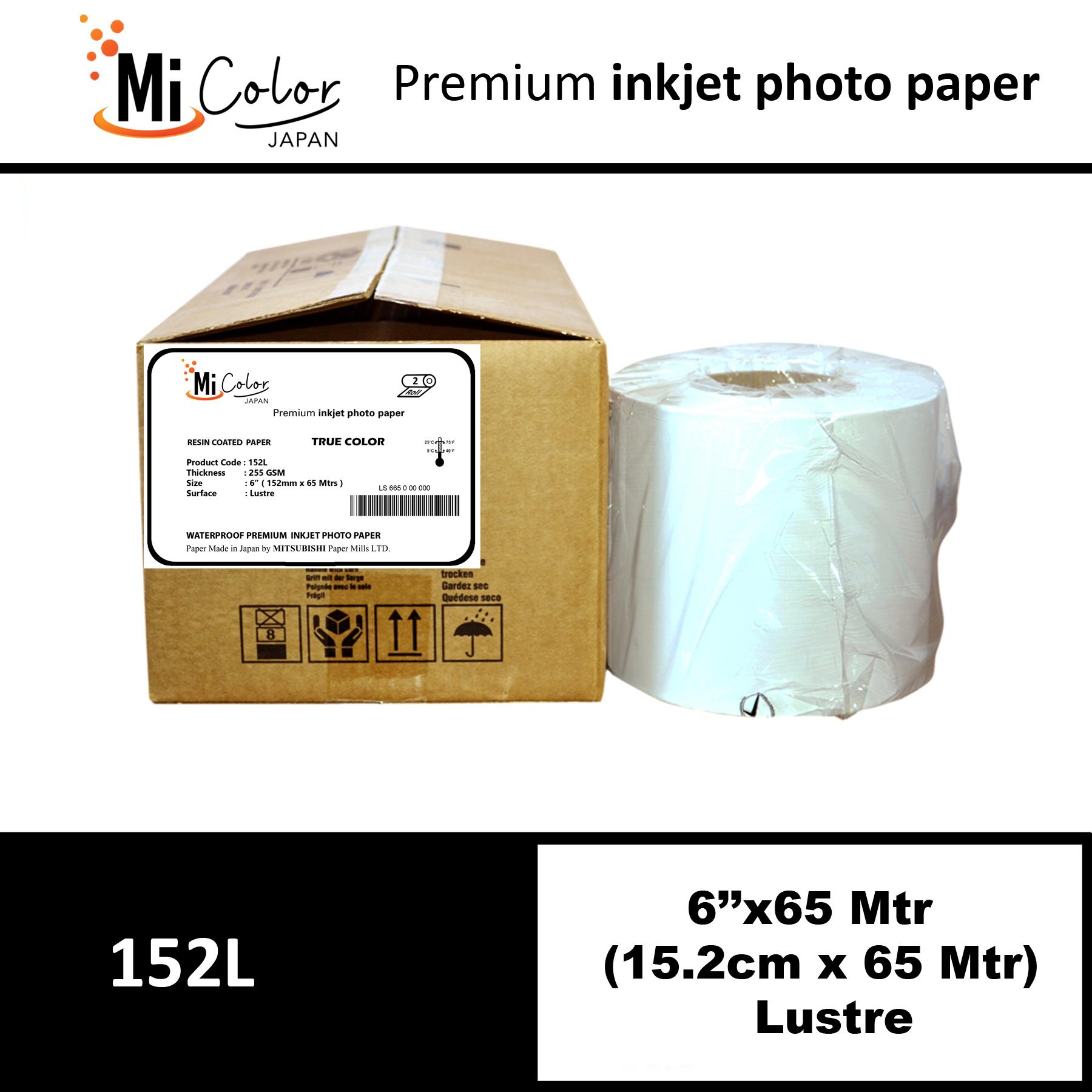 "Mi Color Inkjet RC Paper 6"" x 65 Mtrs Lustre"