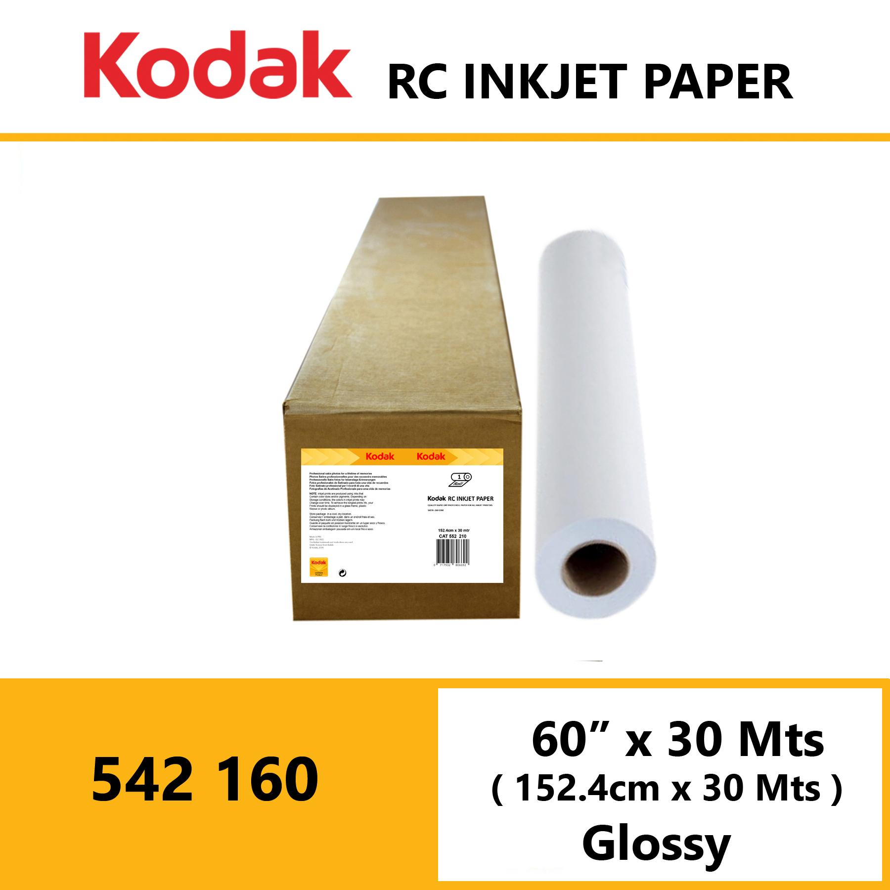 "Kodak Inkjet RC Paper 60"" x 30 Mtrs Glossy"