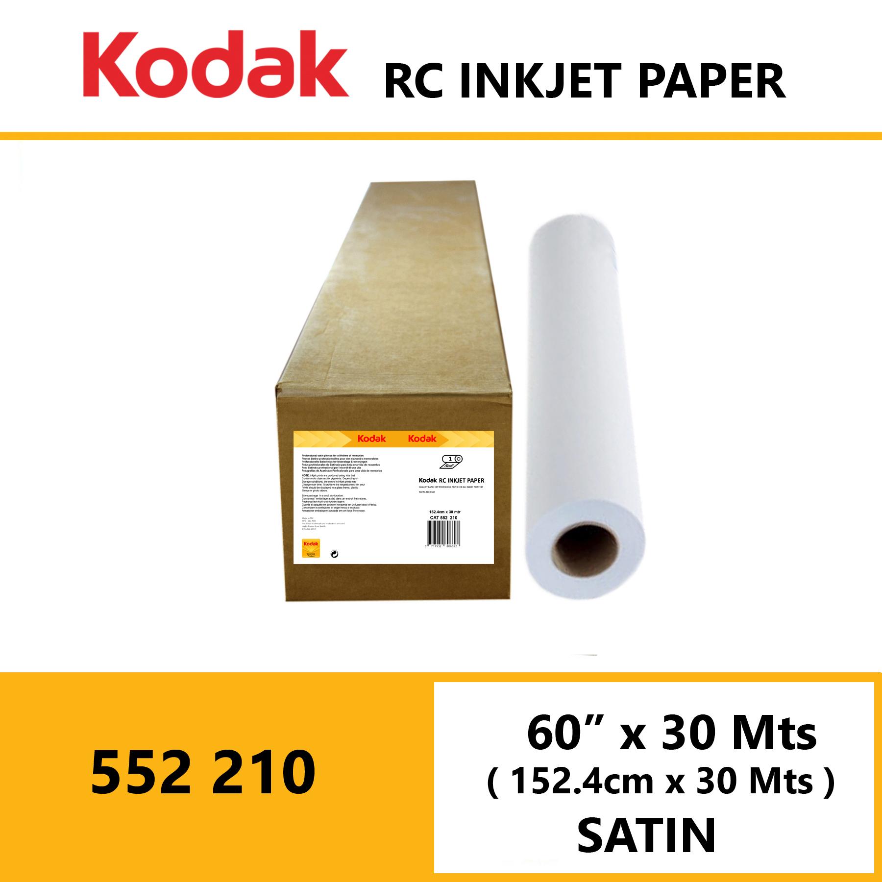 "Kodak Inkjet RC Paper 60 "" x 30 Mtrs Satin"