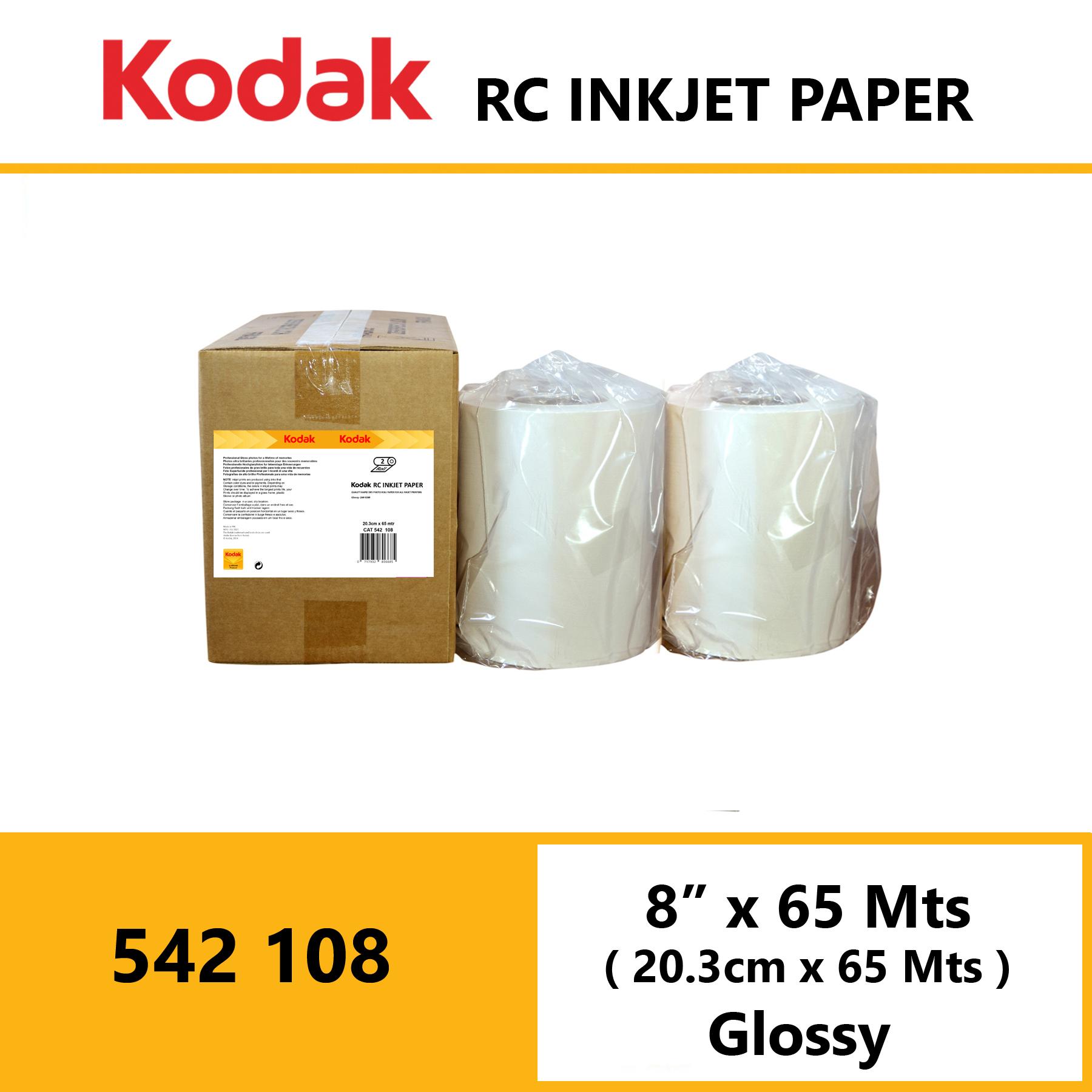 "Kodak Inkjet RC Paper 8 "" x 65 Mtrs Glossy"