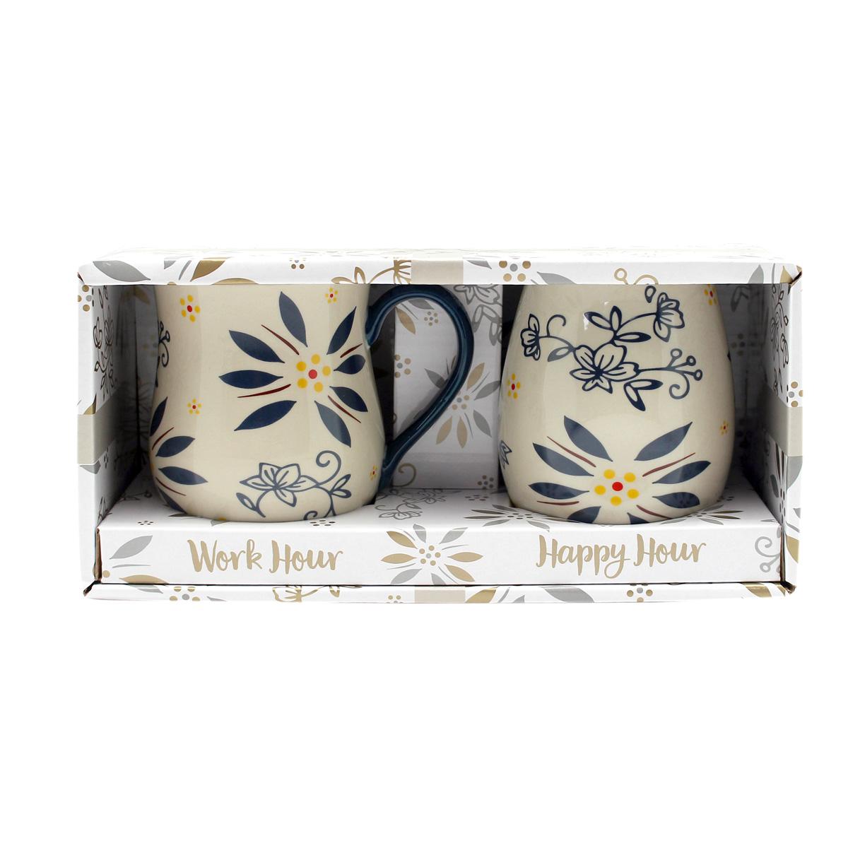 temp-tations® Day and Night Mug Gift Set – 2 Piece – Blue