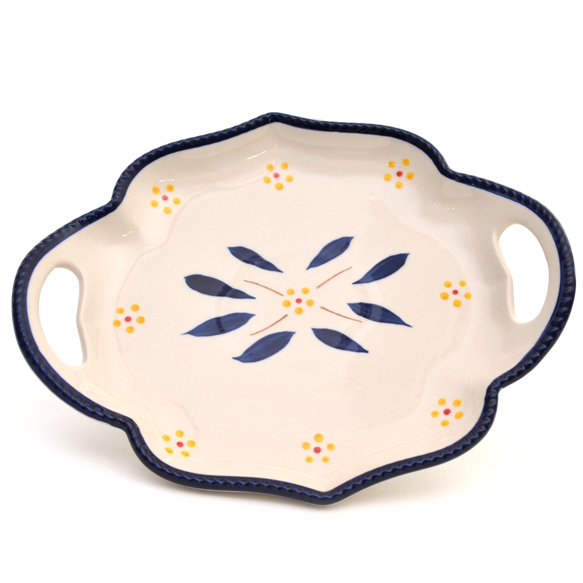 temp-tations® Old World 10-inch Platter with Gift Box – Round – Blue