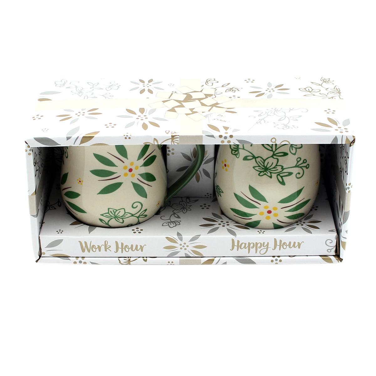 temp-tations® Day and Night Mug Gift Set – 2 Piece – Green