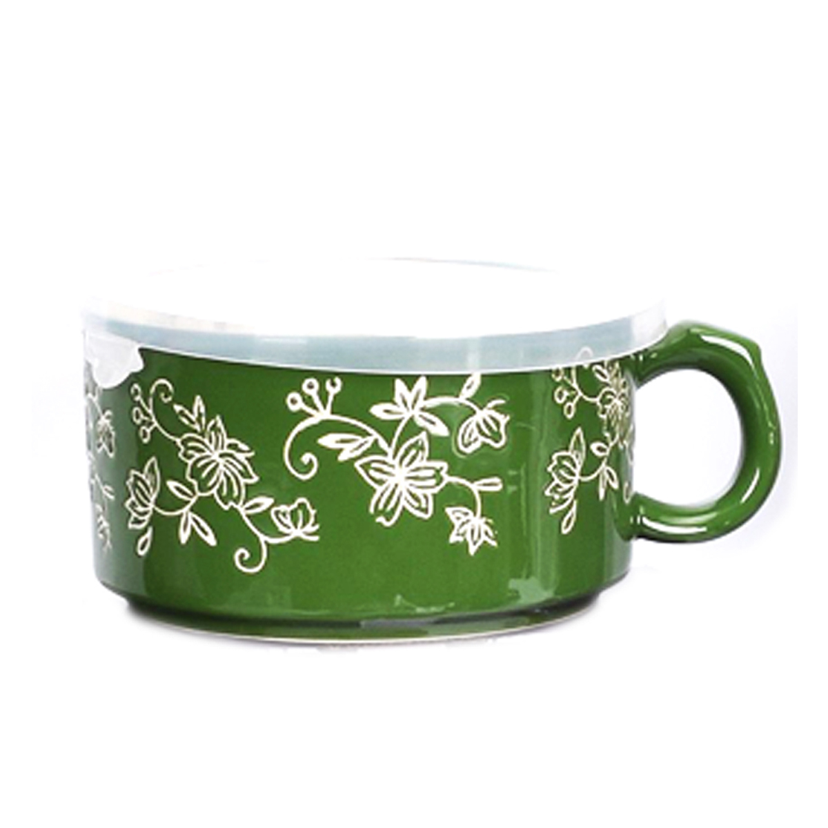 temp-tations® Floral Lace Meal Mug with Gift Box – Green