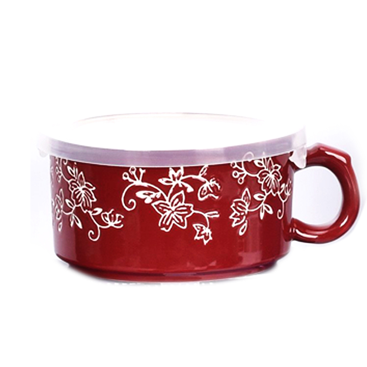 temp-tations® Floral Lace Meal Mug with Gift Box – Cranberry