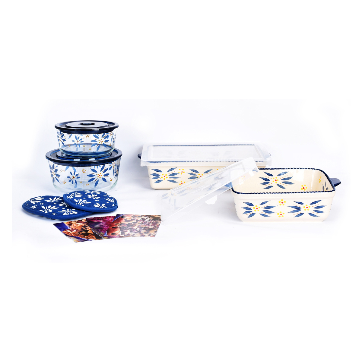temp-tations® Old World All-In One Bakers Bundle – 7 Piece – Blue