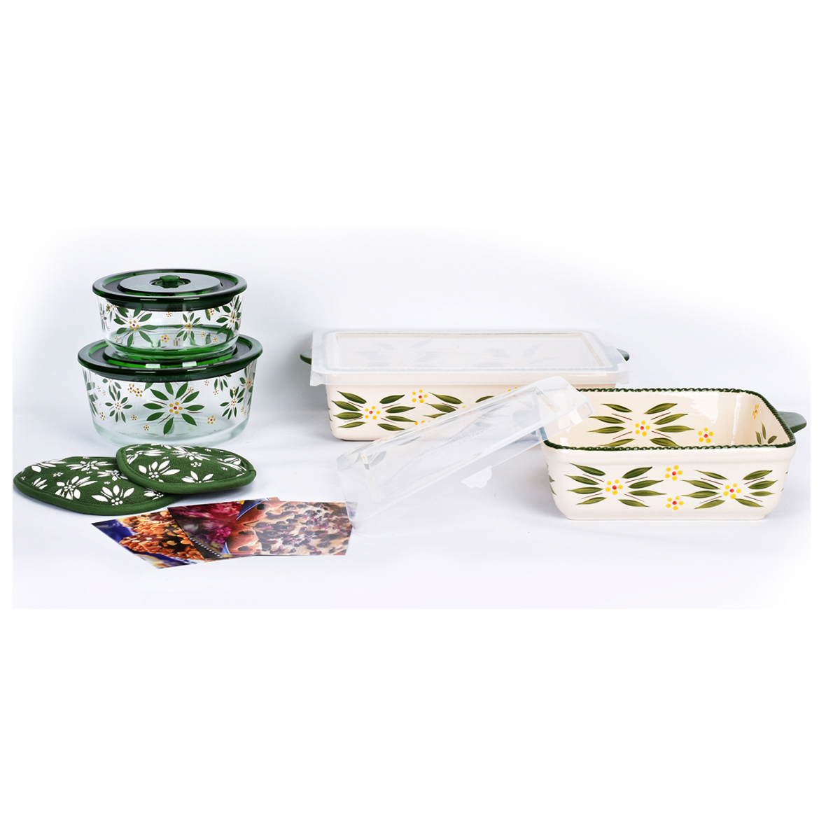 temp-tations® Old World All-In One Bakers Bundle – 7 Piece – Green