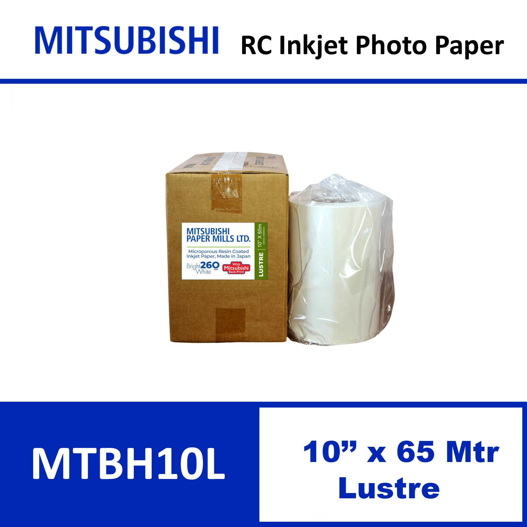 """Mitsubishi Inkjet RC Paper 10"""" x 65 Mtrs Lustre"""