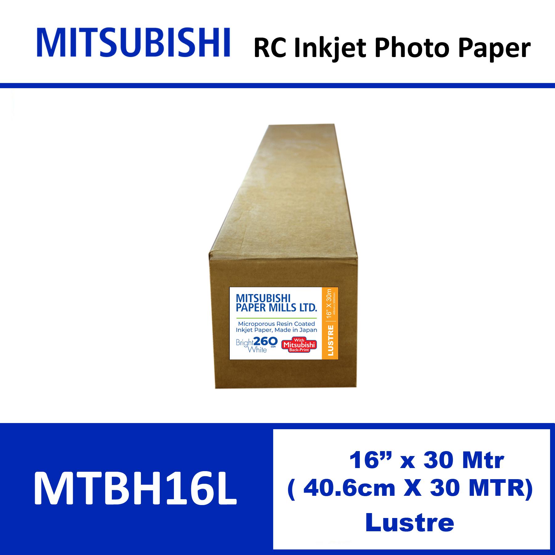 """Mitsubishi Inkjet RC Paper 16"""" x 30 Mtrs Lustre"""