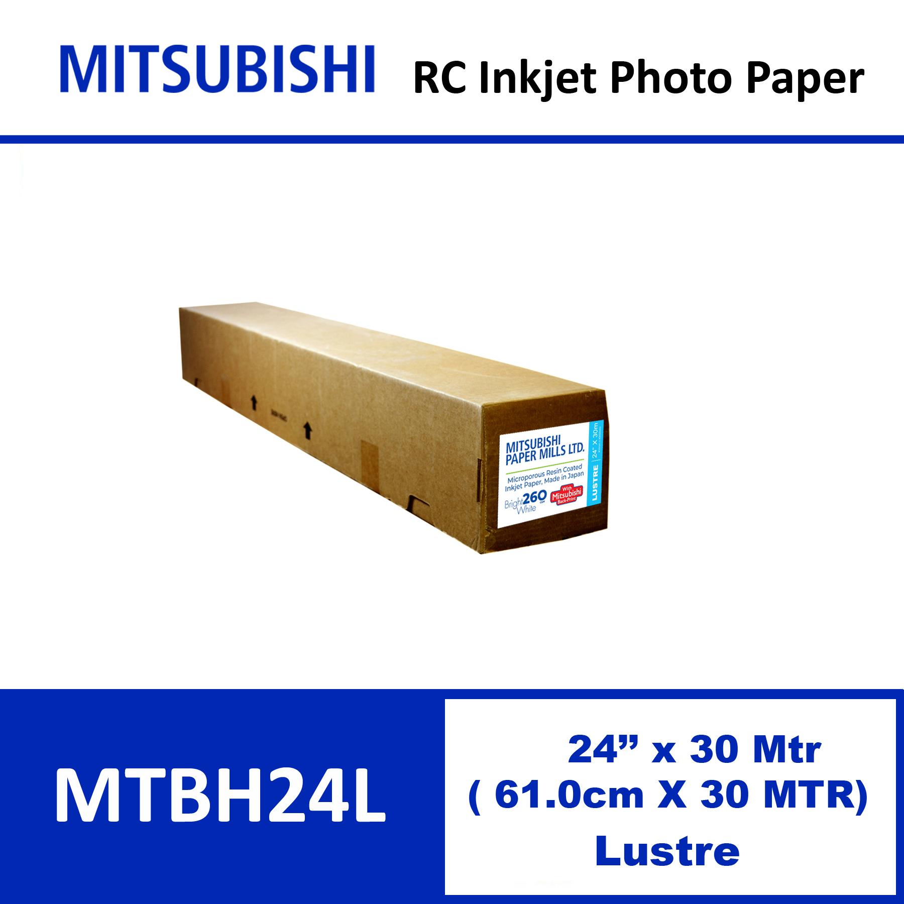 """Mitsubishi Inkjet RC Paper 24"""" x 30 Mtrs Lustre"""