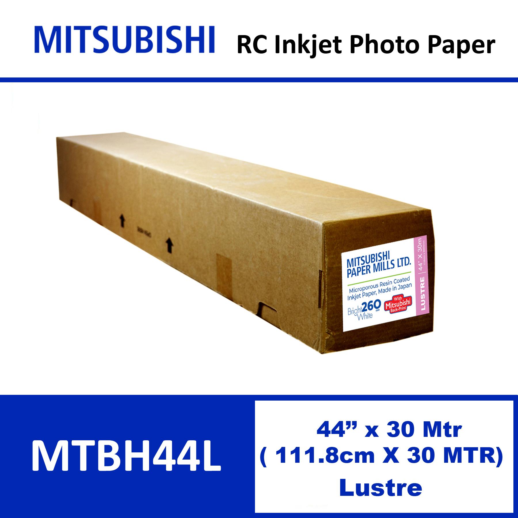 """Mitsubishi Inkjet RC Paper 44"""" x 30 Mtrs Lustre"""