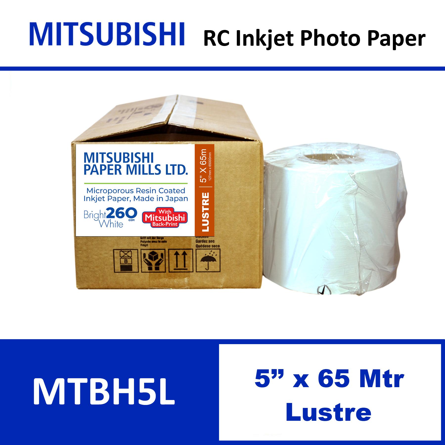 """Mitsubishi Inkjet RC Paper 5"""" x 65 Mtrs Lustre"""