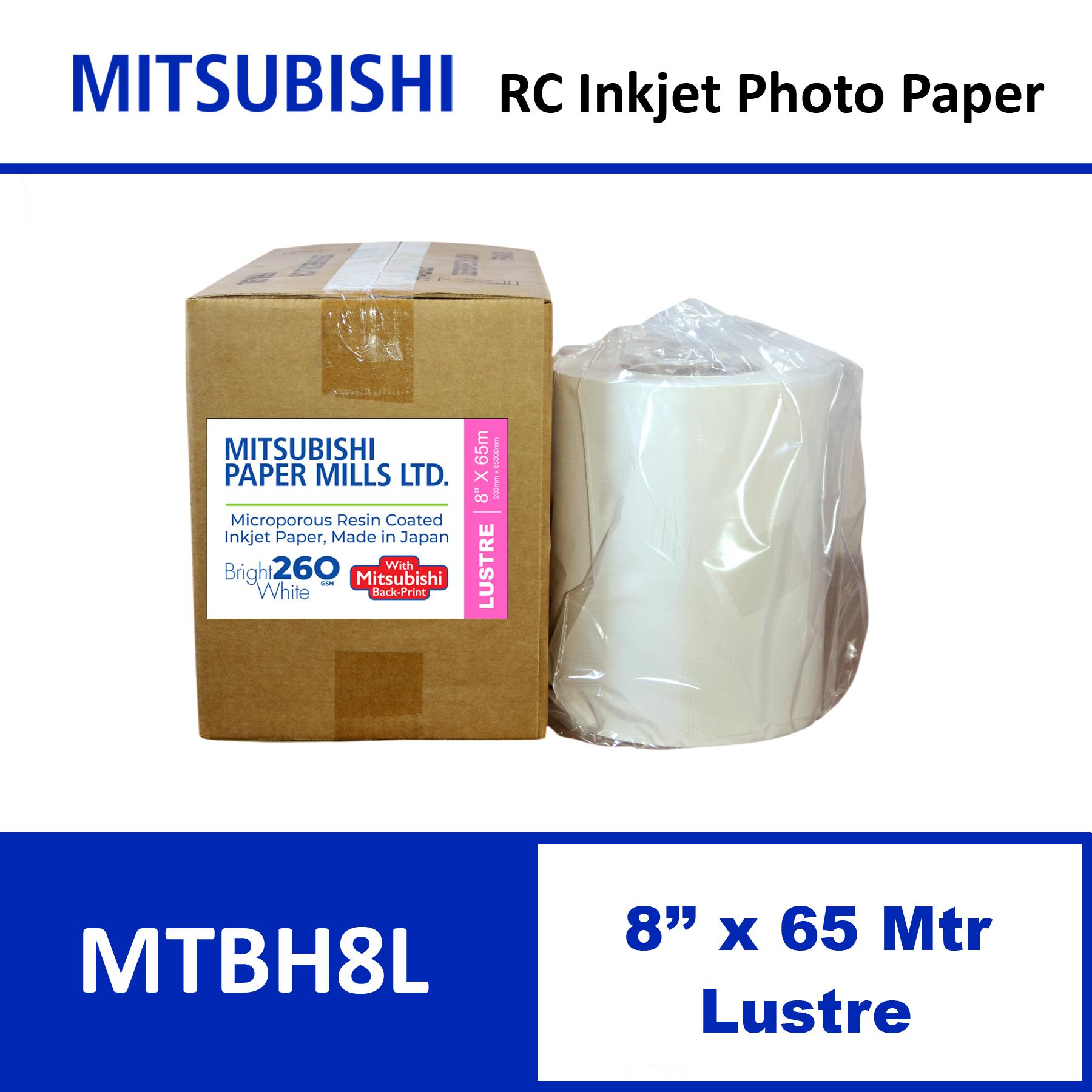 """Mitsubishi Inkjet RC Paper 8"""" x 65 Mtrs Lustre"""