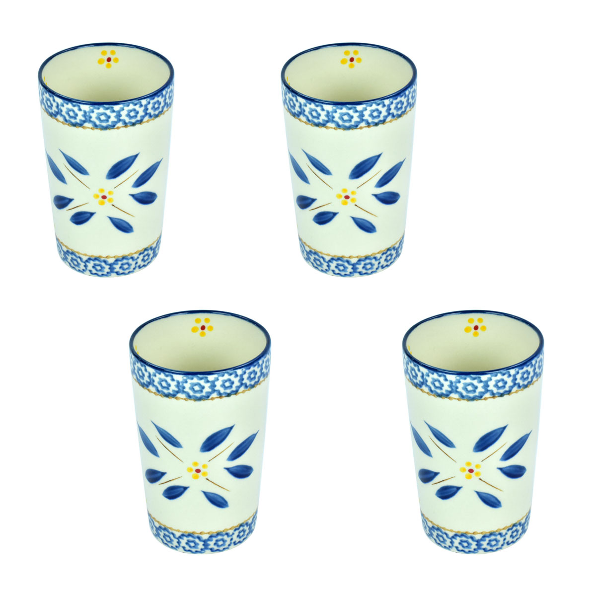 temp-tations® Old World Carafe Cups – 4 Piece – Blue