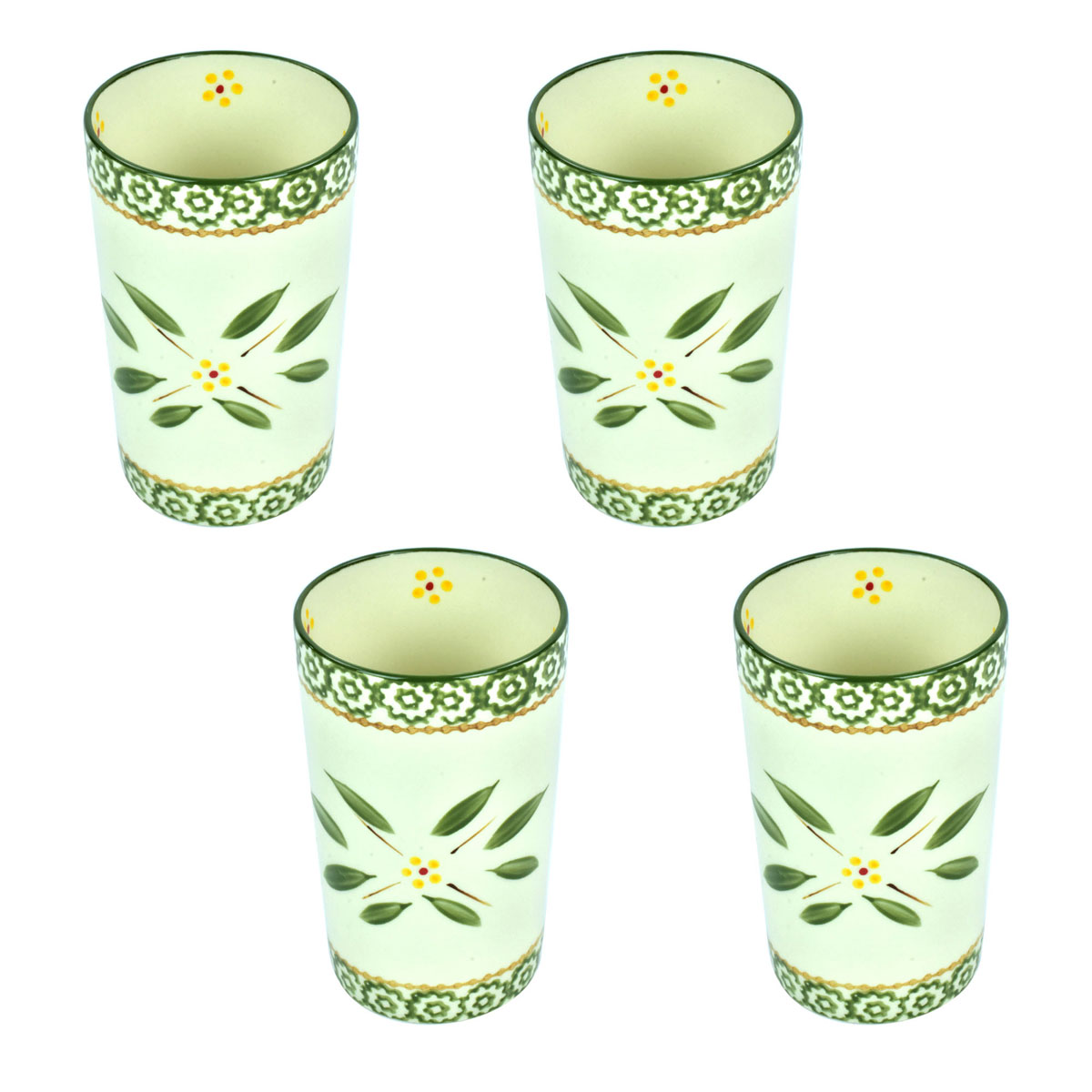 temp-tations® Old World Carafe Cups – 4 Piece – Green