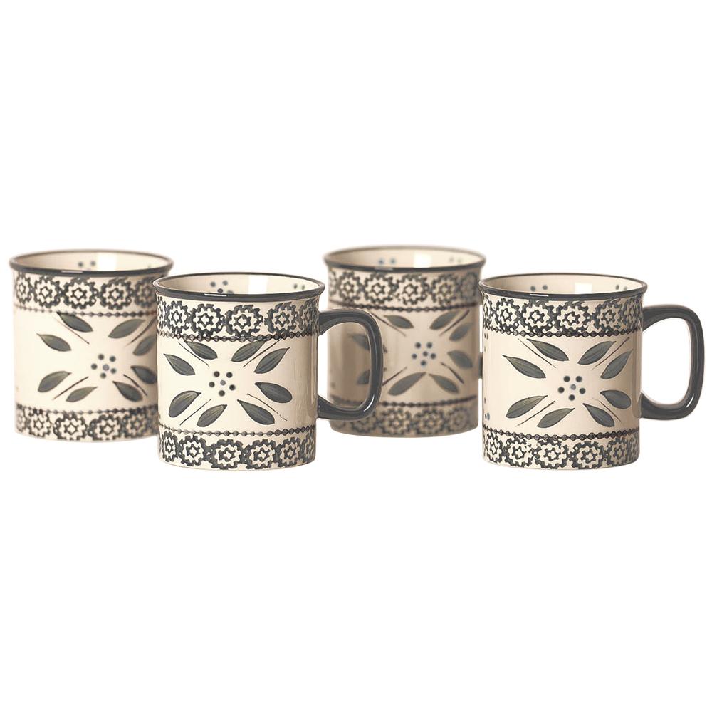 temp-tations® Old World Mug Set of 4 – Grey