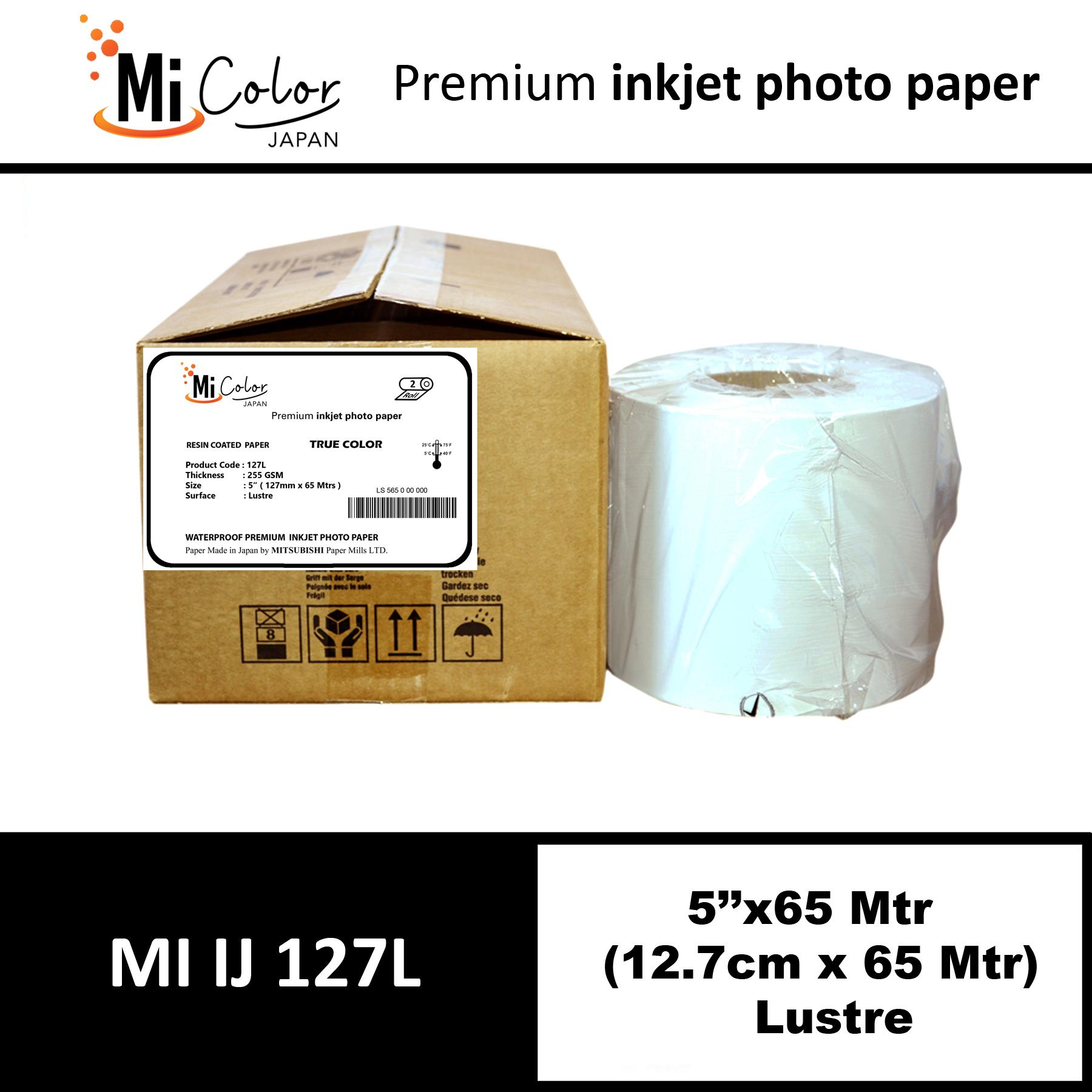 "Mi Color Inkjet RC Paper 5"" x 65 Mtrs Lustre"
